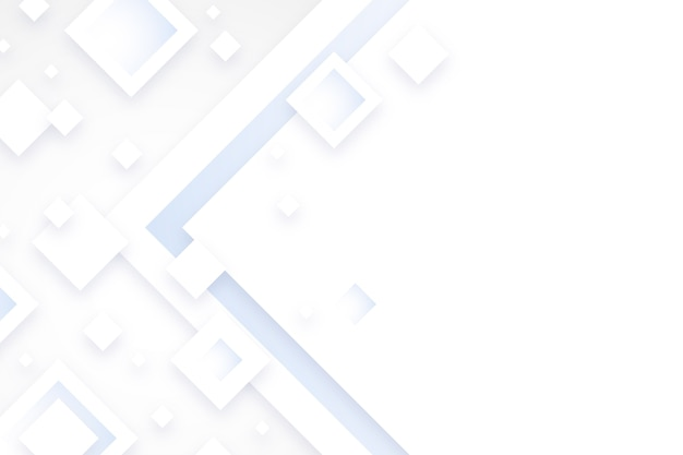 Fondo de formas blancas de diamante en estilo de papel 3d vector gratuito
