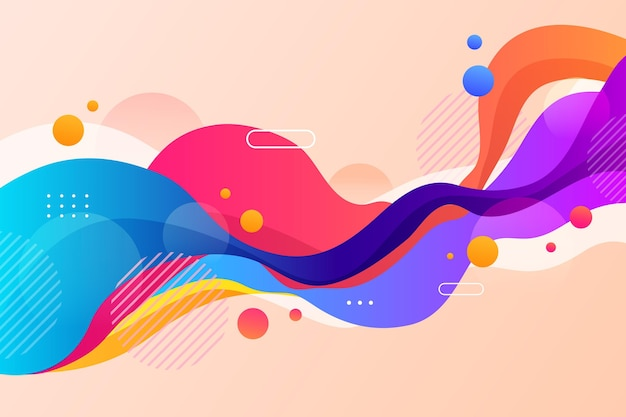 Fondo de formas coloridas abstractas vector gratuito