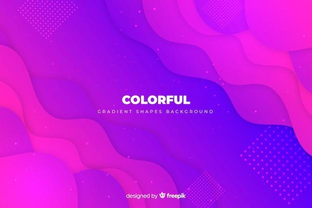 Fondo de formas coloridas con degradado vector gratuito