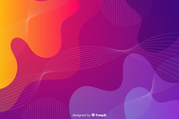 Fondo de formas de flujo colorido abstracto Vector Premium