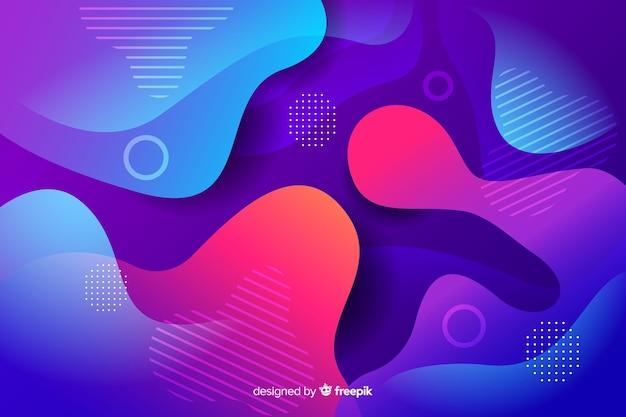 Fondo de formas de flujo colorido abstracto vector gratuito
