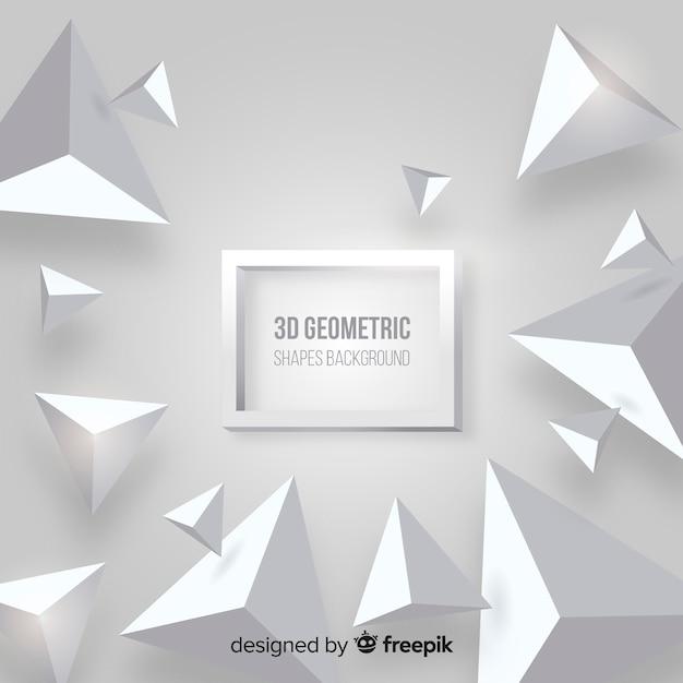Fondo de formas geométricas en 3d vector gratuito