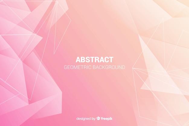 Fondo de formas geométricas abstractas vector gratuito