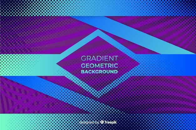 Fondo de formas geométricas con degradado vector gratuito