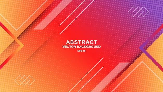 Fondo de formas geométricas gradiente Vector Premium