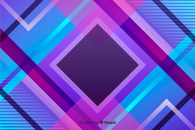 Fondo de formas geométricas gradiente vector gratuito
