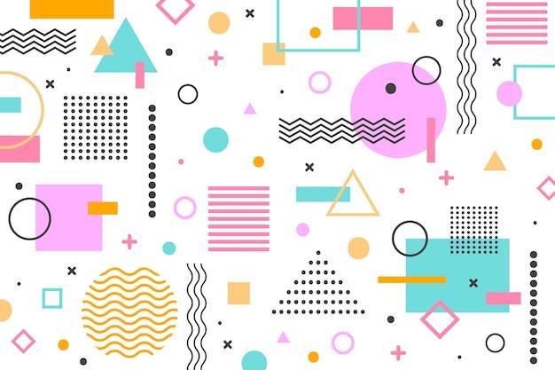 Fondo de formas geométricas planas vector gratuito