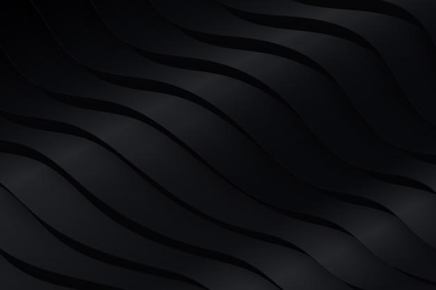 Fondo de formas onduladas negras vector gratuito