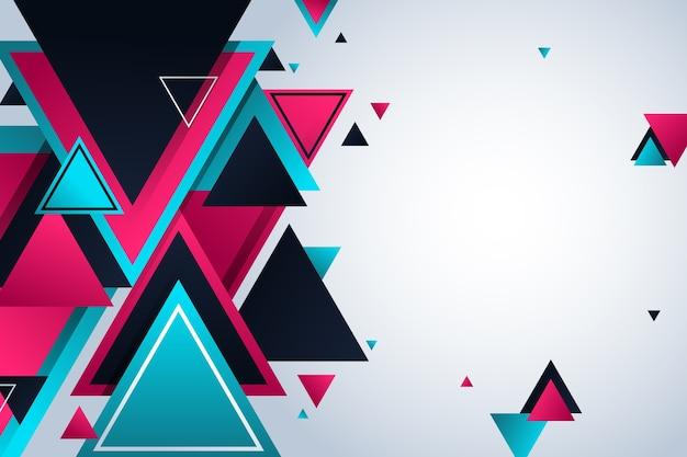 Fondo de formas poligonales geométricas degradado vector gratuito