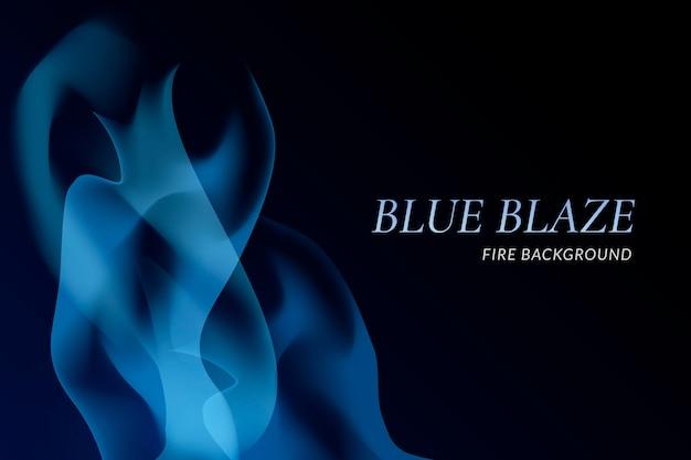 Fondo de fuego azul vector gratuito