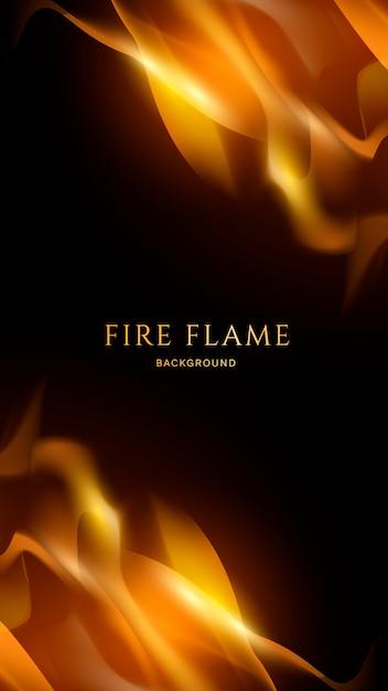 Fondo de fuego y llama. vector gratuito