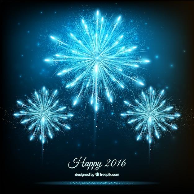 Fondo De Fuegos Artificiales Brillantes De Ano Nuevo Descargar