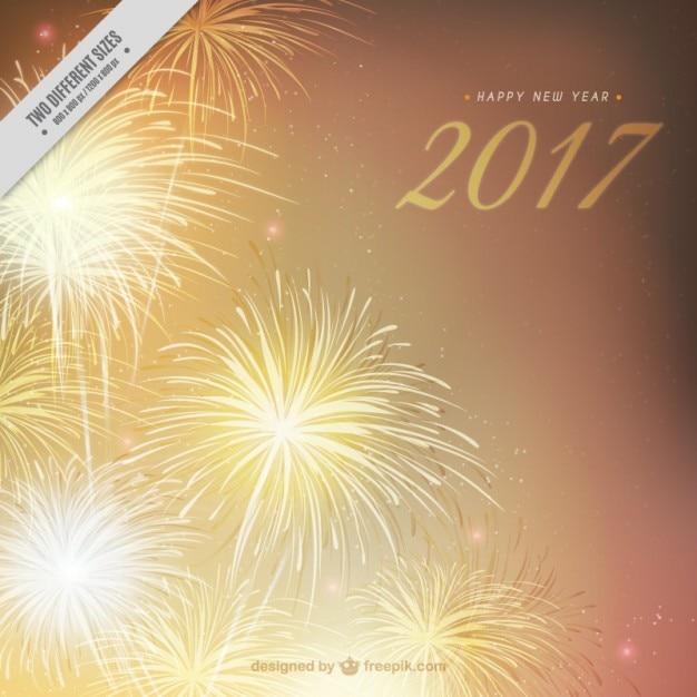 Fondo De Fuegos Artificiales Dorados De Ano Nuevo Descargar