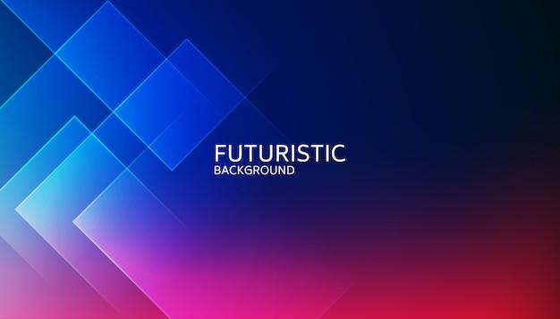 Fondo futurista abstracto azul forma geométrica Vector Premium