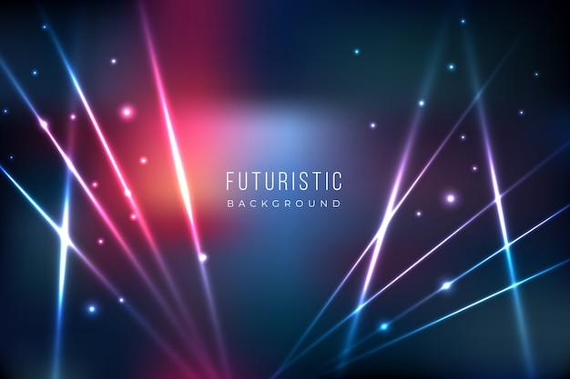 Fondo futurista con efecto de luces. vector gratuito