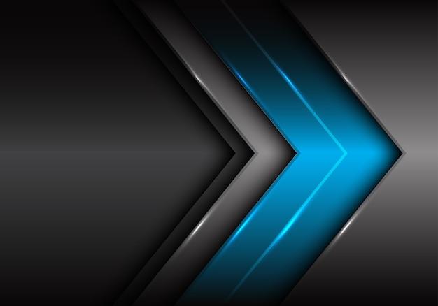 Fondo Futurista De La Flecha Gris Oscuro Azul Abstracta