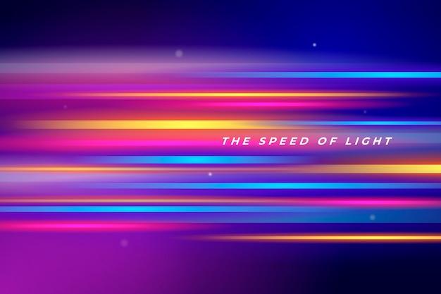 Fondo futurista de luces de neón Vector Premium
