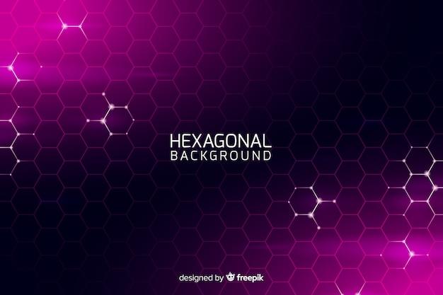 Fondo futurista red hexagonal vector gratuito
