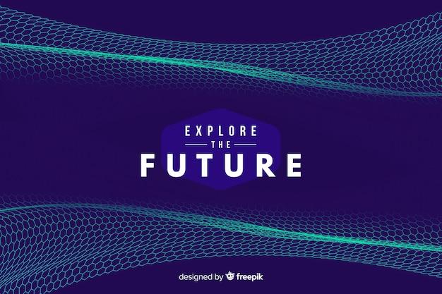 Fondo futurista con red hexagonal vector gratuito