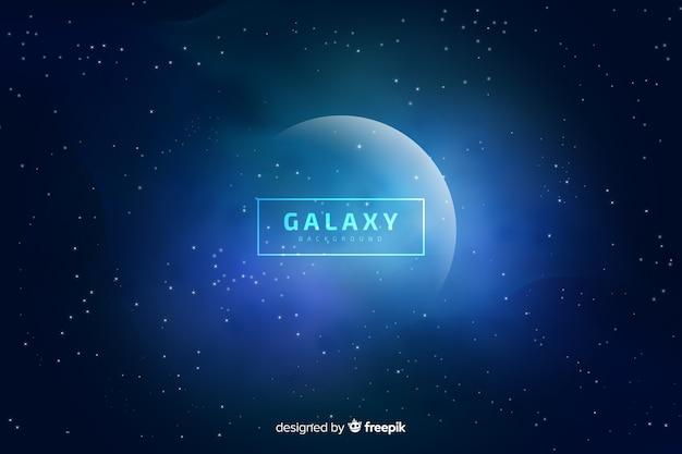 Fondo galaxia borroso vector gratuito