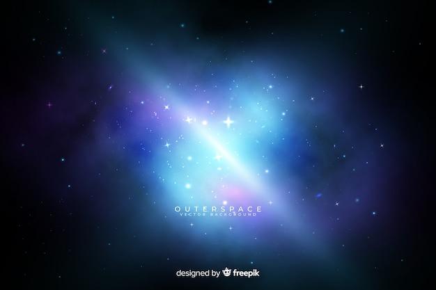 Fondo galaxia nebulosa colorida vector gratuito