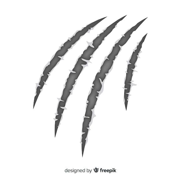 Fondo garras tigre dibujada a mano vector gratuito