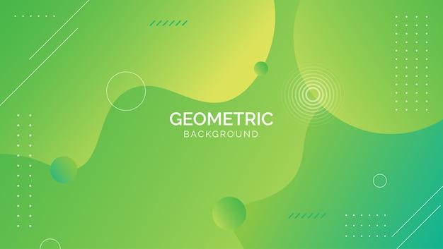 Fondo geométrico abstracto azul verde degradado Vector Premium