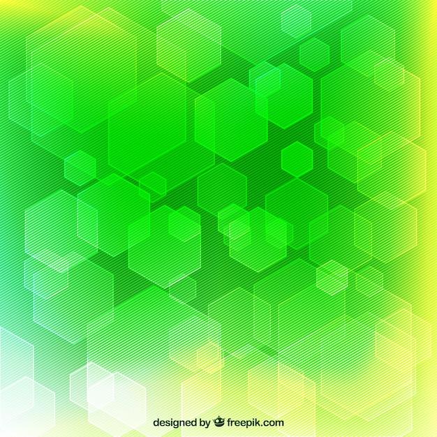 Fondo Geometrico Abstracto En Tonos Verdes 23 Te Hijau