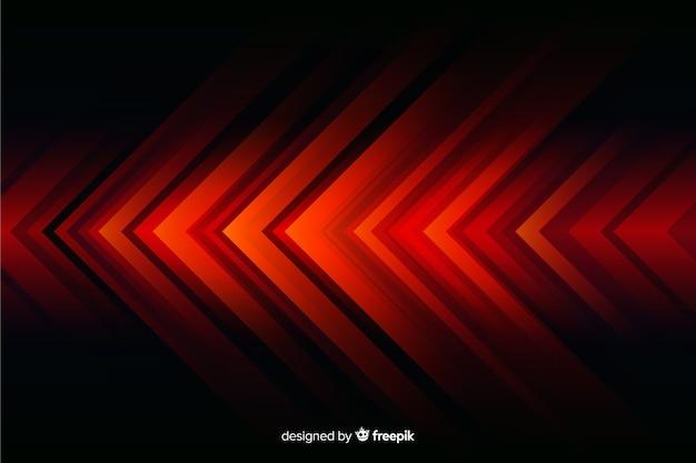 Fondo geométrico abstracto de las luces rojas vector gratuito