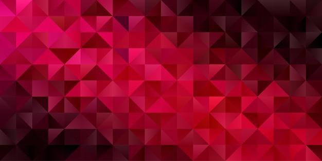 Fondo geométrico abstracto. papel pintado de triángulo polígono en color rojo oscuro. patrón Vector Premium