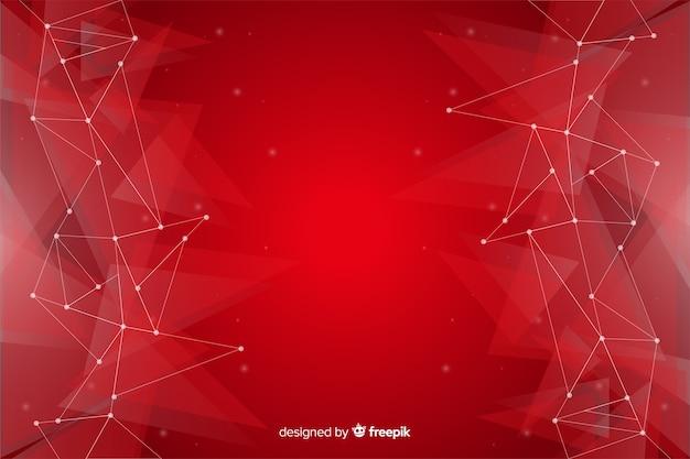 Fondo geométrico abstracto con patrón de triángulo vector gratuito