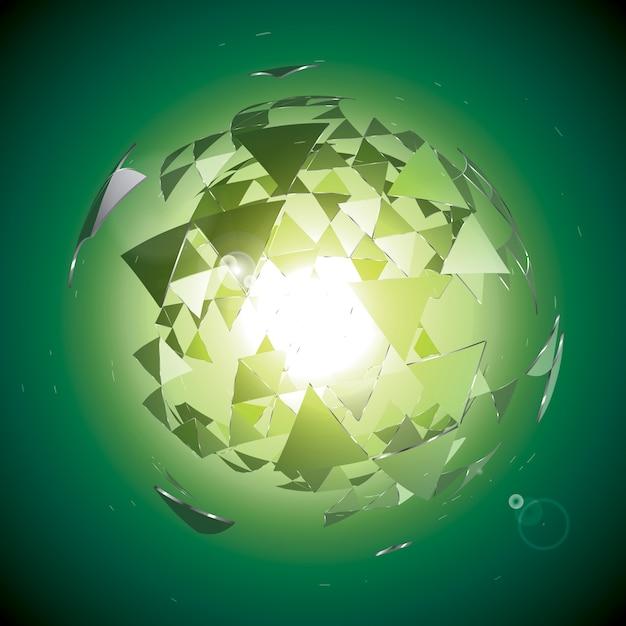 Fondo geométrico abstracto Vector Premium