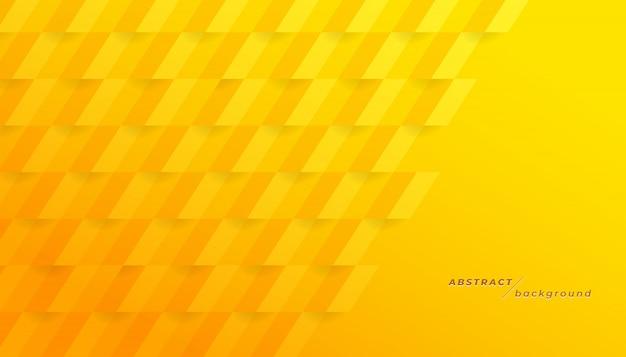 Fondo geométrico amarillo abstracto. Vector Premium