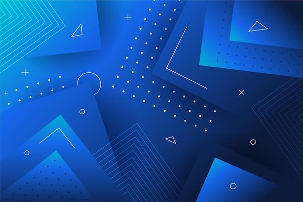 Fondo geométrico azul abstracto Vector Premium