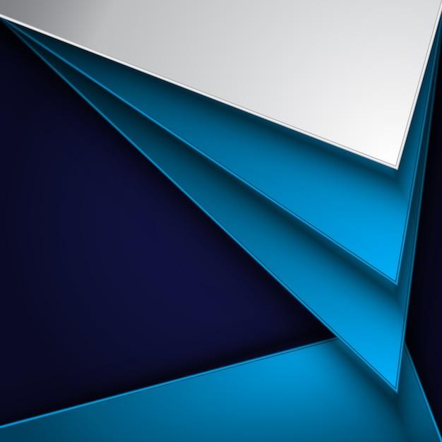 Fondo Geométrico Azul Y Blanco
