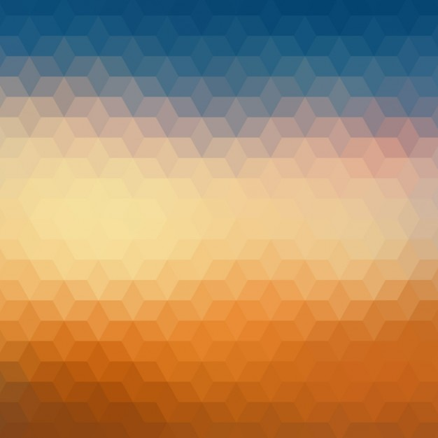 Fondo Geométrico Azul Y Naranja