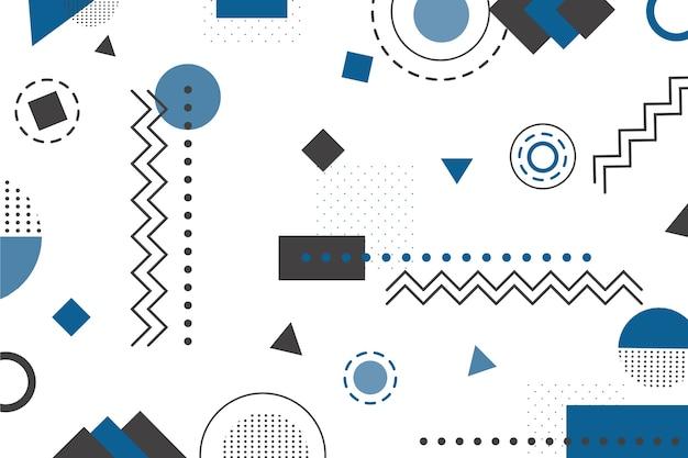 Fondo geométrico color del año 2020 vector gratuito