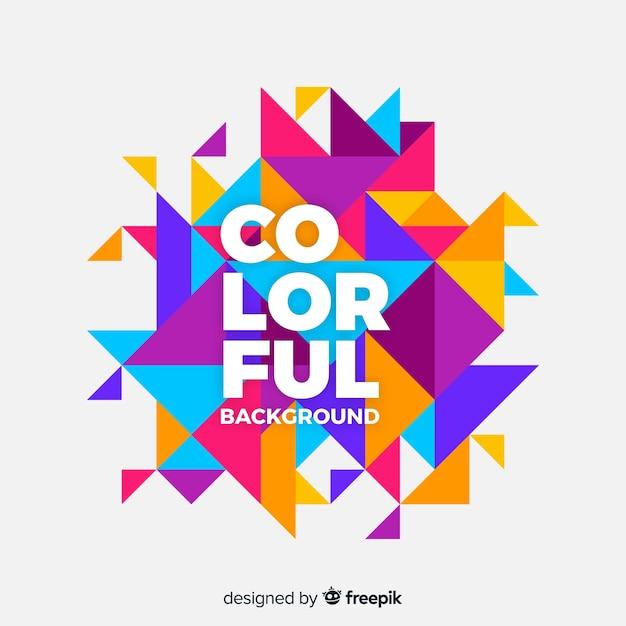Fondo geométrico colorido vector gratuito