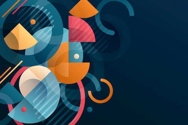 Fondo geométrico degradado abstracto vector gratuito