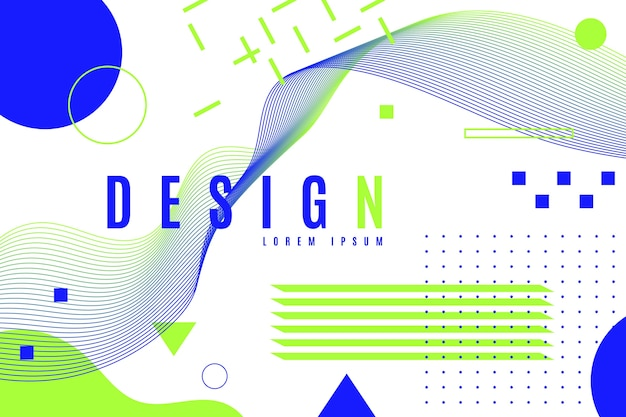 Fondo geométrico de diseño gráfico en tonos fríos. vector gratuito
