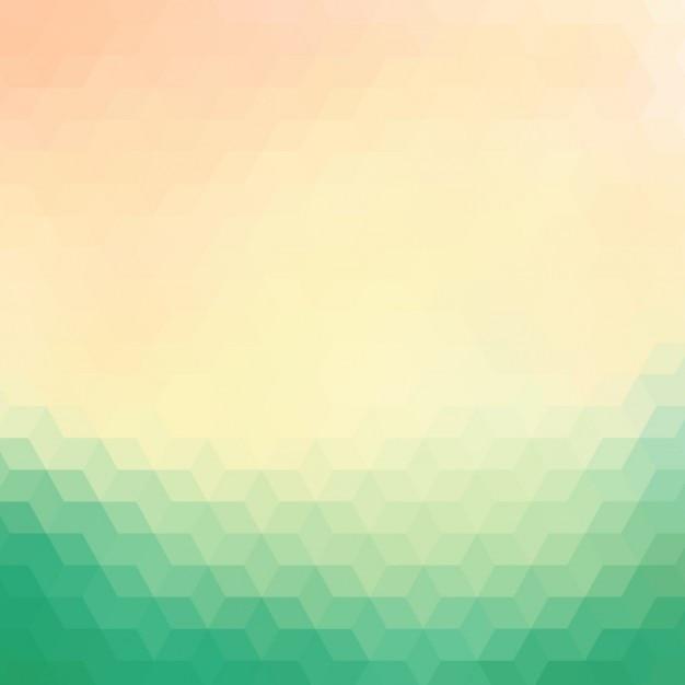 Fondo Geométrico En Tonos Verdes Y Crema