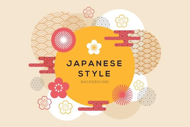 Fondo geométrico en estilo japonés Vector Premium