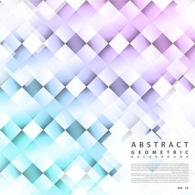 Fondo geométrico estructurado. vector fondo abstracto en forma cuadrada con efecto de luz Vector Premium