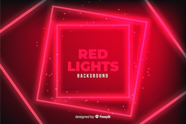 Fondo geométrico de luces rojas vector gratuito