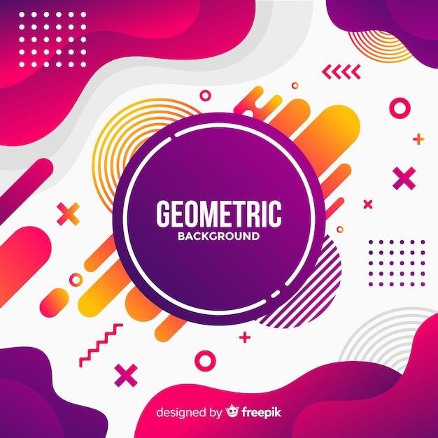 Fondo geométrico vector gratuito
