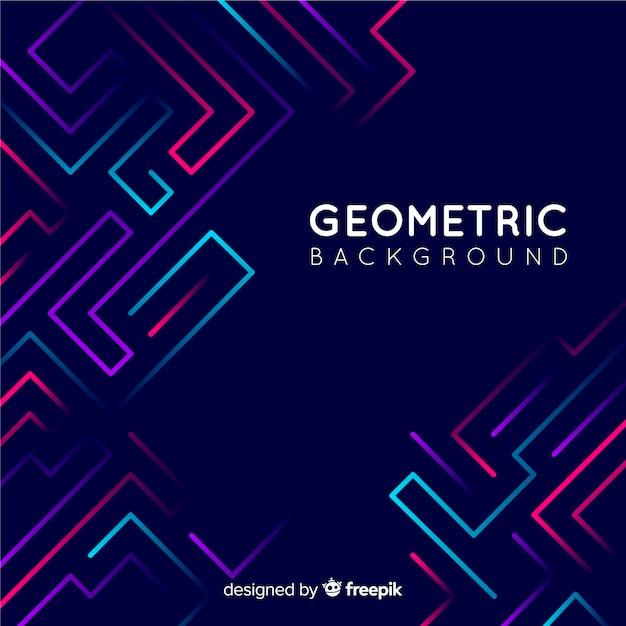 Fondo geométrico Vector Premium