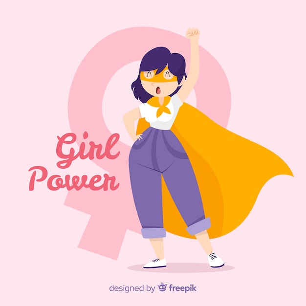 Fondo girl power vector gratuito