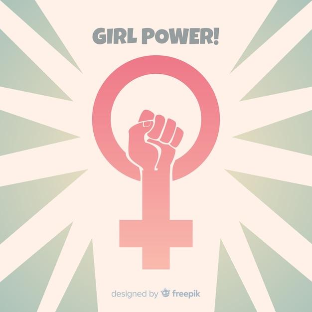 Fondo girl power vector gratuito