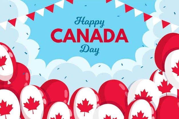 Fondo con globos para el día de canadá vector gratuito
