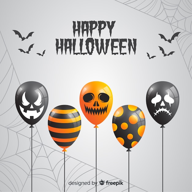 Fondo de globos de halloween vector gratuito